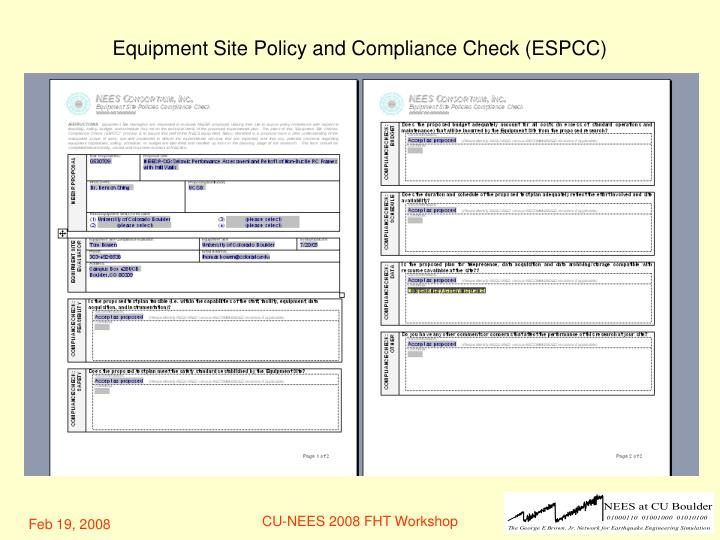 Equipment Site Policy and Compliance Check (ESPCC)