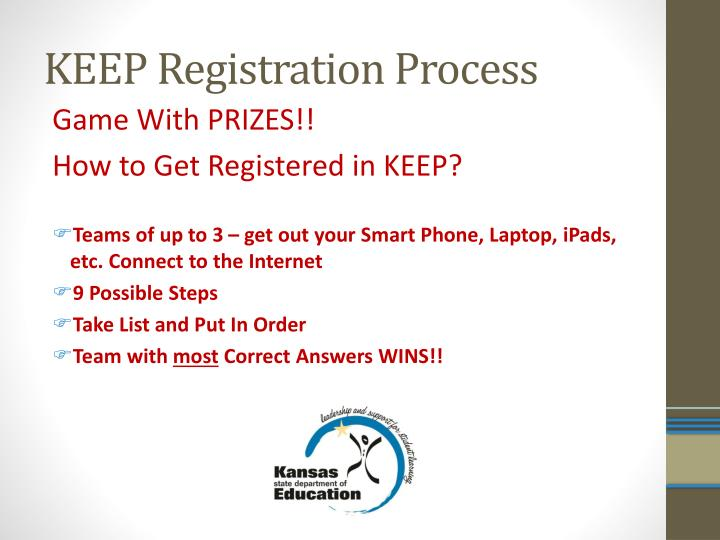 KEEP Registration Process