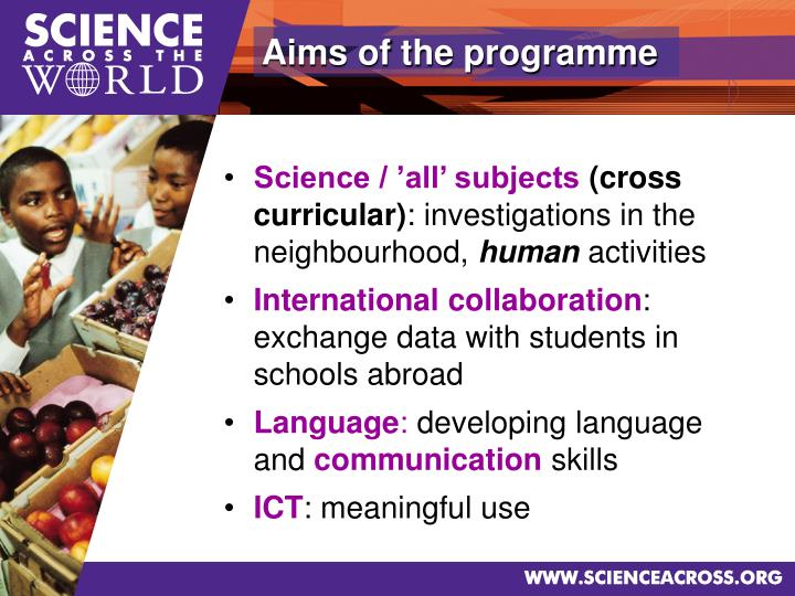 Aims of the programme