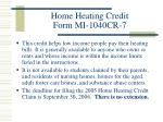 home heating credit form mi 1040cr 7
