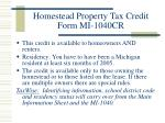 homestead property tax credit form mi 1040cr