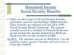 household income social security benefits