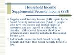 household income supplemental security income ssi