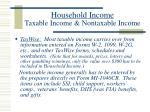 household income taxable income nontaxable income