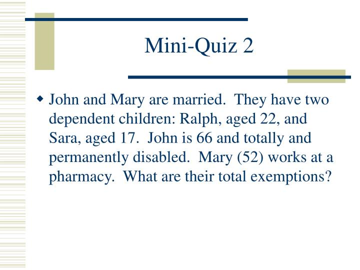 Mini-Quiz 2