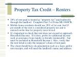 property tax credit renters