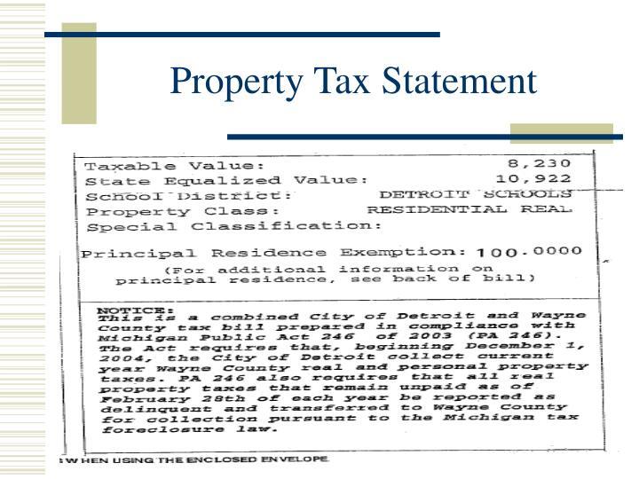 Property Tax Statement