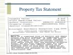 property tax statement