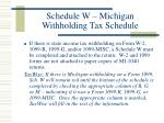 schedule w michigan withholding tax schedule