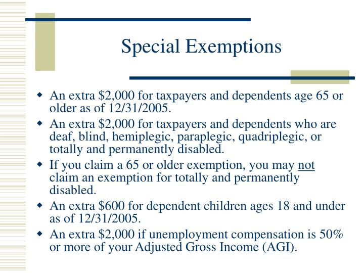 Special Exemptions