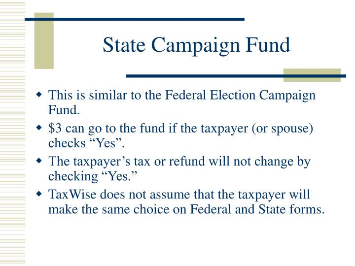 State Campaign Fund