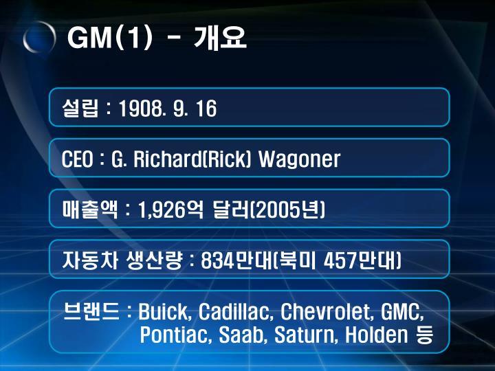 GM(1) -