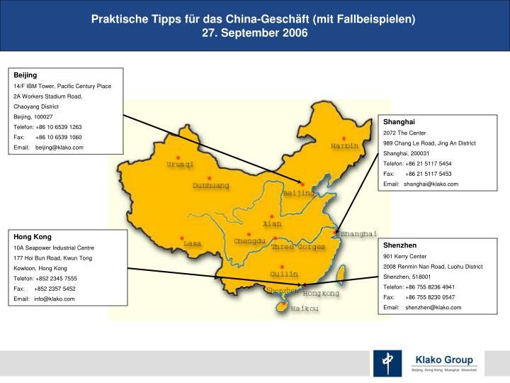 Praktische Tipps für das China-Geschäft (mit Fallbeispielen)