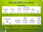 gdi and gem of an mdc sweden