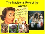 the traditional role of the woman