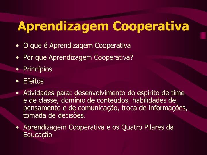 Aprendizagem Cooperativa
