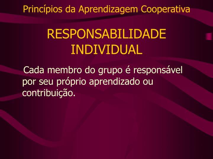 Princípios da Aprendizagem Cooperativa