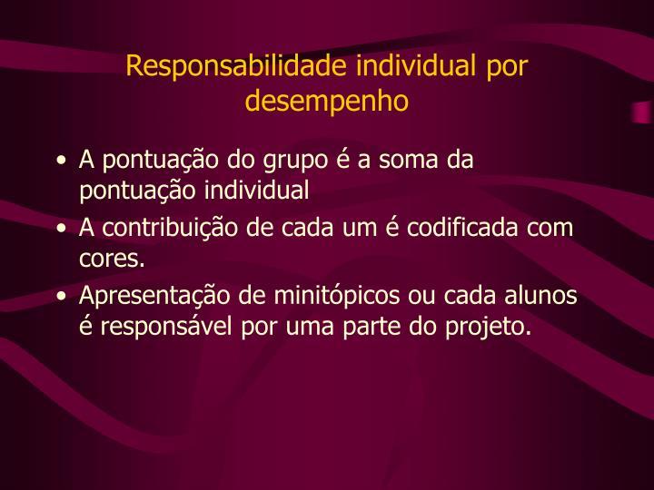 Responsabilidade individual por desempenho