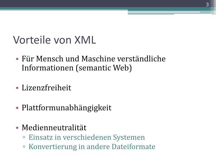 Vorteile von XML