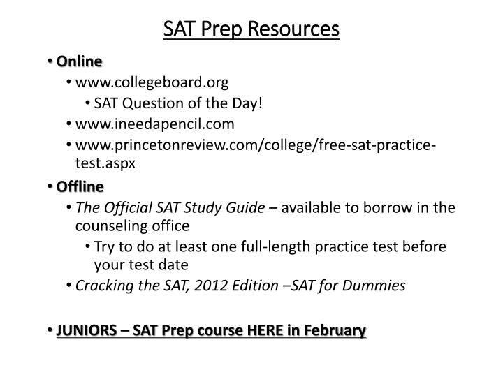 SAT Prep Resources