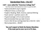 standardized tests the act