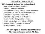 standardized tests the sat