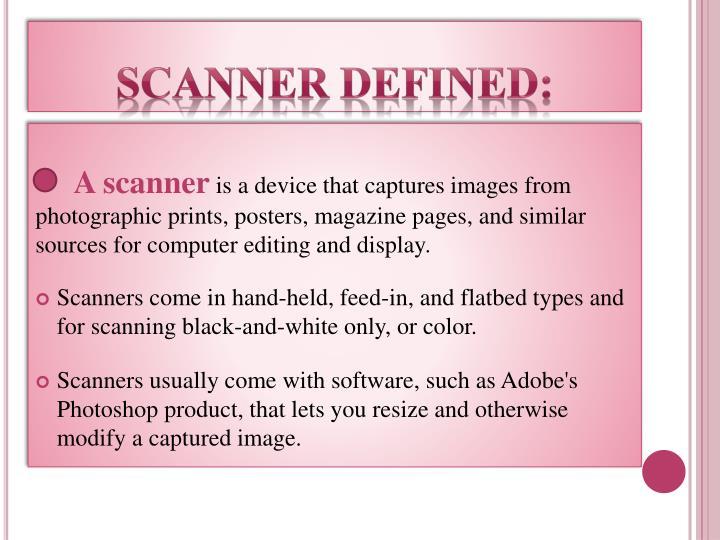 scanner defined: