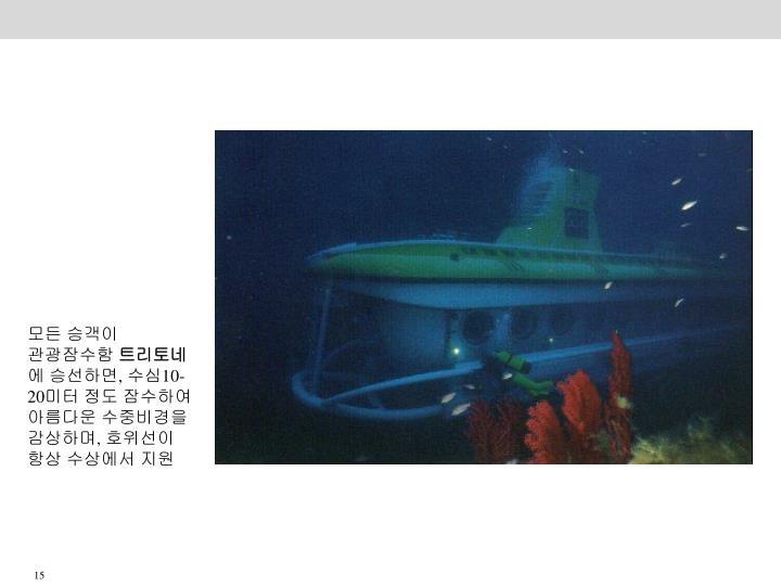 모든 승객이 관광잠수함