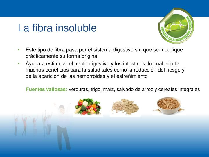 La fibra insoluble