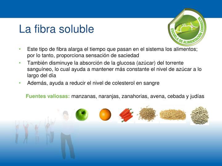 La fibra soluble