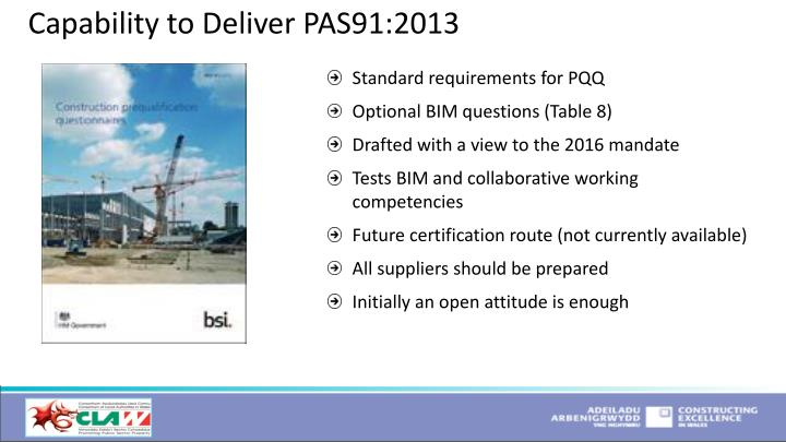 Capability to Deliver PAS91:2013