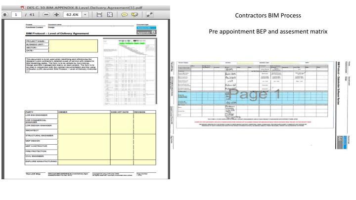 Contractors BIM Process
