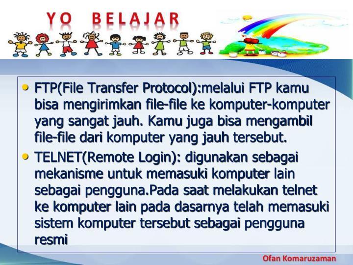 FTP(File Transfer Protocol):