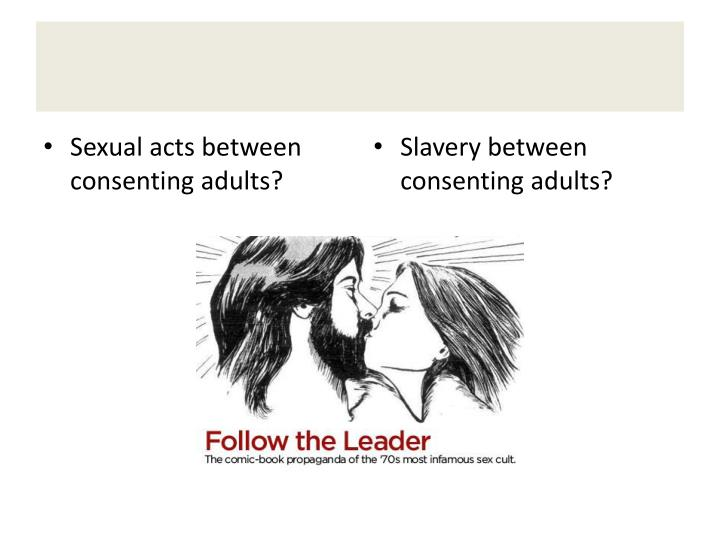 Sexual acts between consenting adults?