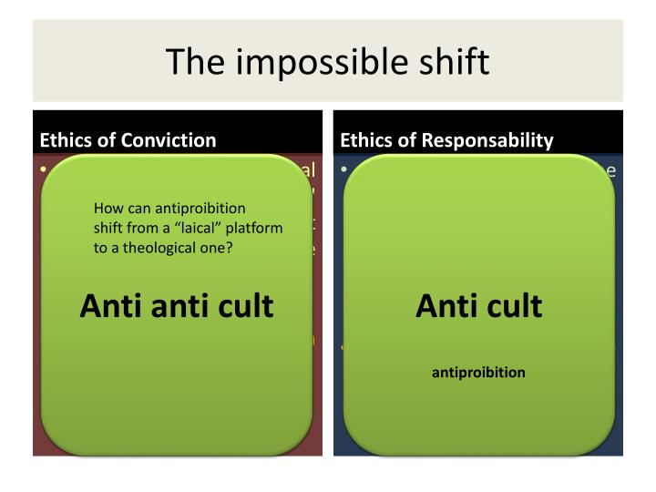The impossible shift