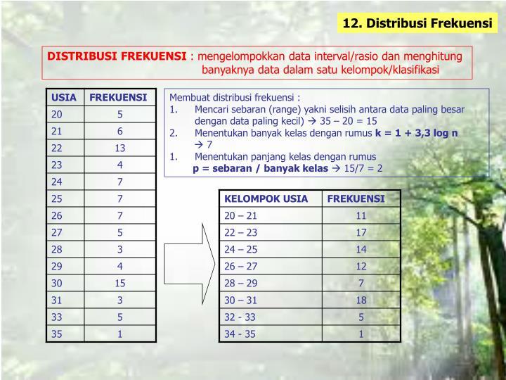 12. Distribusi Frekuensi