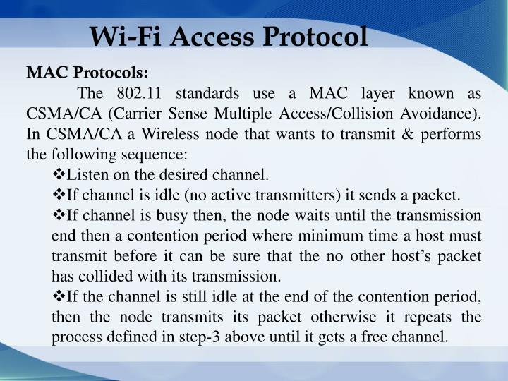 Wi-Fi Access Protocol