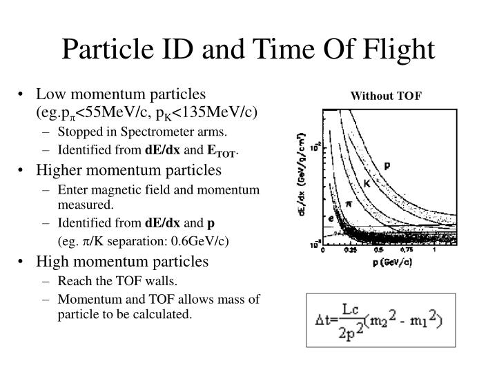 Particle ID and Time Of Flight