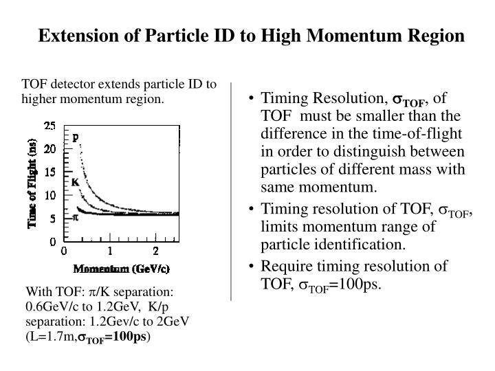 Extension of Particle ID to High Momentum Region