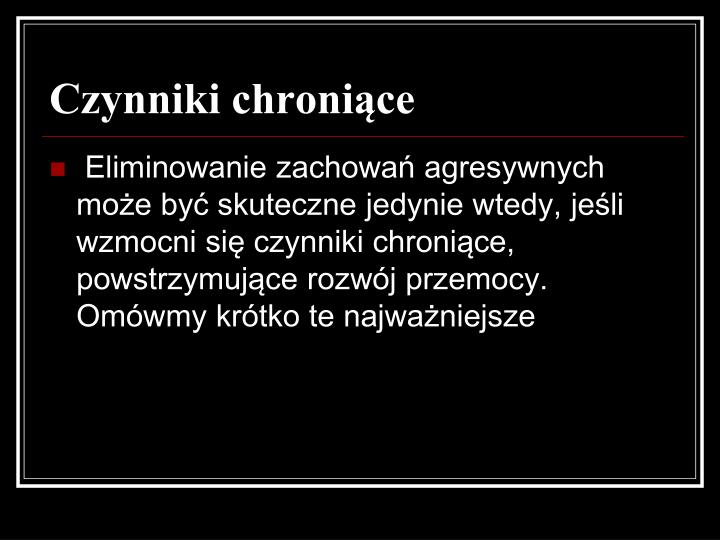 Czynniki chronice