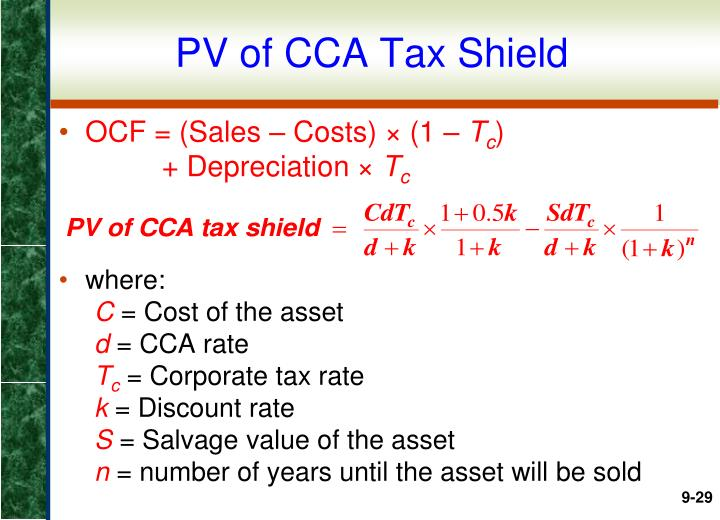 PV of CCA Tax Shield
