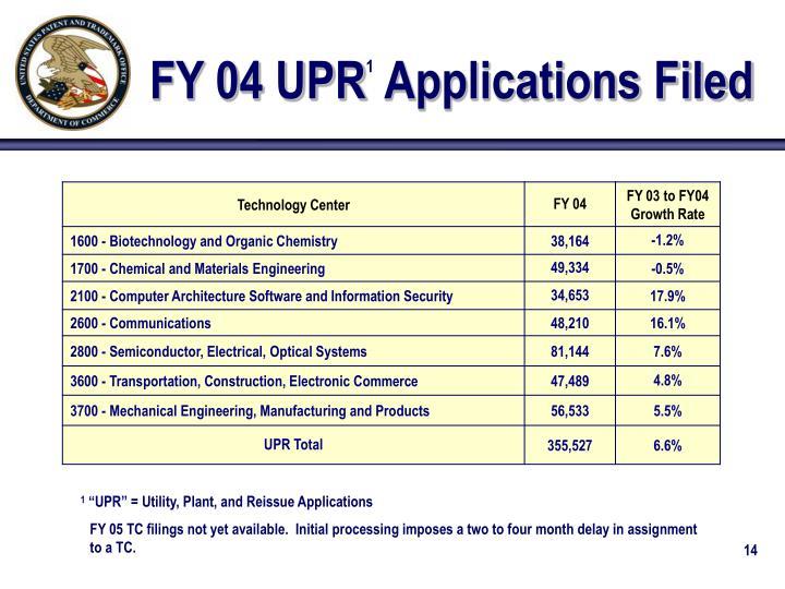 FY 04 UPR