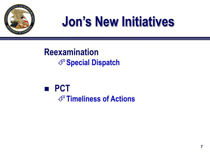 Jon's New Initiatives