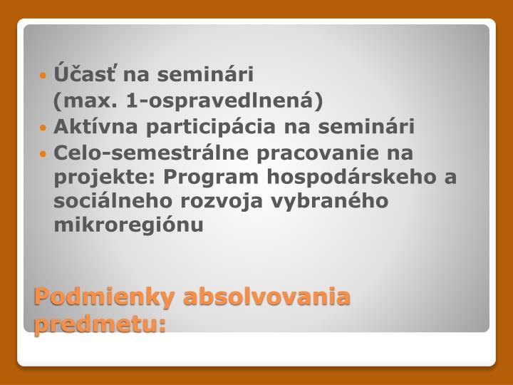 Účasť na seminári
