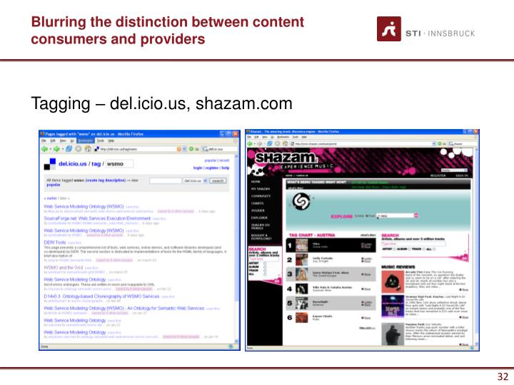 Blurring the distinction between content consumers and providers