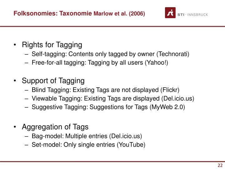 Folksonomies: Taxonomie