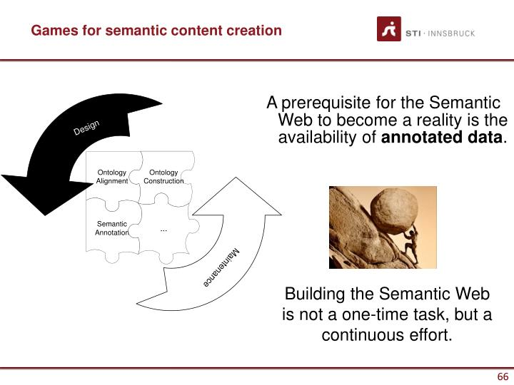 Games for semantic content creation