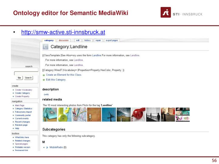 Ontology editor for Semantic MediaWiki