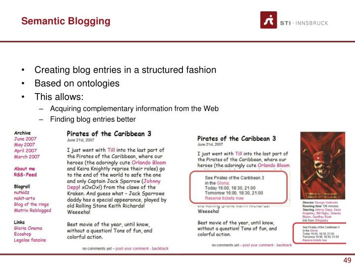 Semantic Blogging
