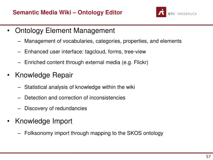 Semantic Media Wiki – Ontology Editor